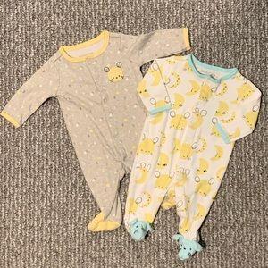 Unisex Footie Pajama Bundle - Newborn
